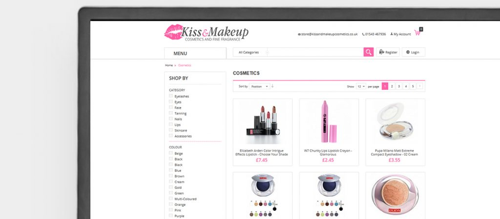 Kiss & Makeup Website Design