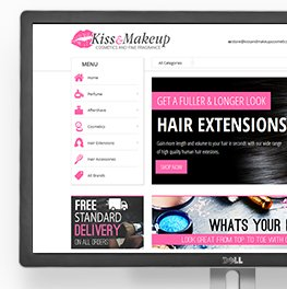 Web Design Burntwood - Kiss & Makeup Website Design