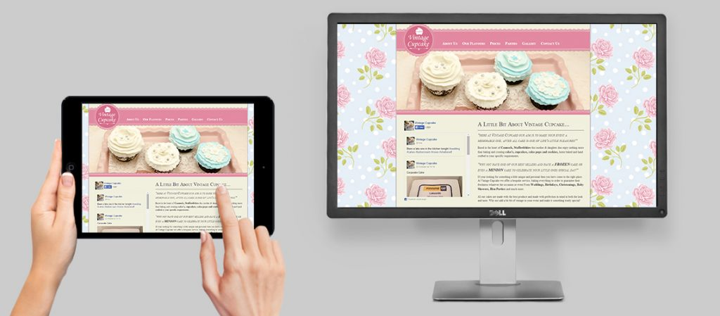 Holistic Creations – Vintage Cupcake Website Design